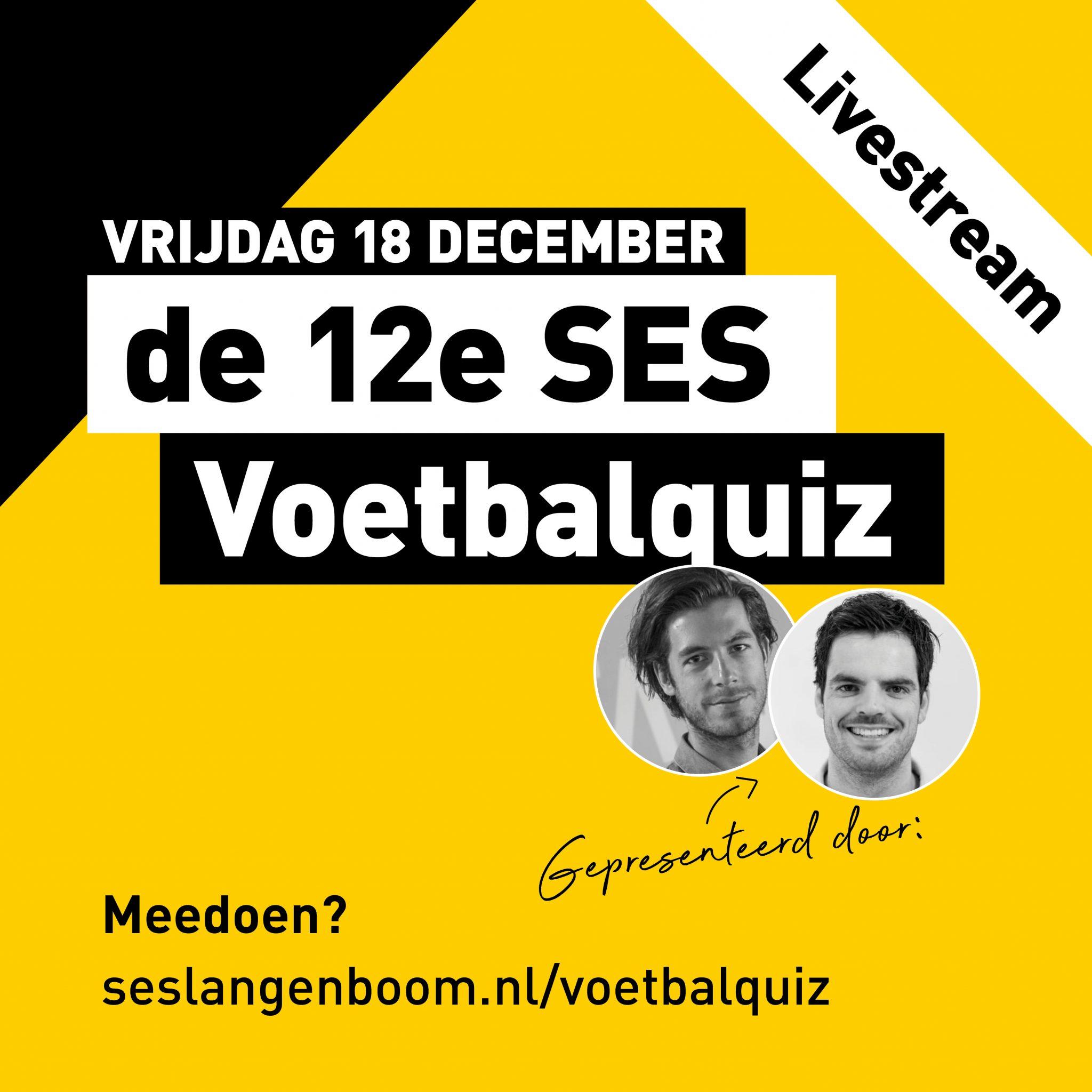 12e Voetbalquiz livestream